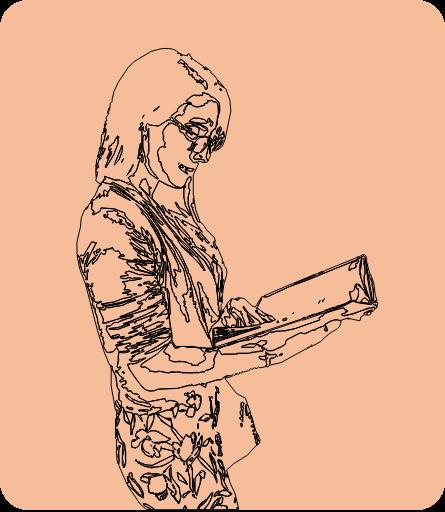 femme dys lisant un livre