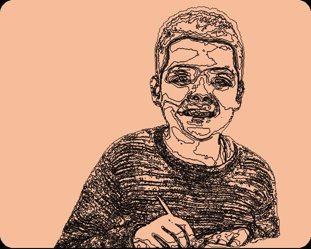 petit dyslexique ui sourit à la vie
